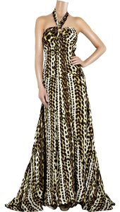 Roberto Cavalli Gown Ball Gown Evening Gown Tie Gown Silk Print Leopard Dress