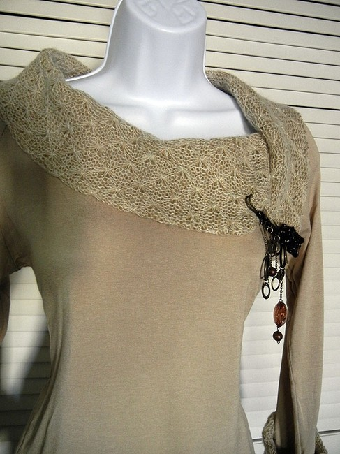 Vernal Large Collar Knitted Made In France European Sweater
