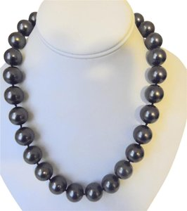 Pearlfection Pearfection Faux Black Tahitian South Sea Pearls