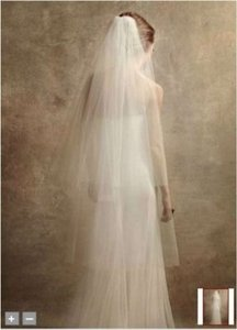 Vera Wang Ivory Long Two-tier Walking Length Bridal Veil