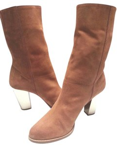 Jimmy Choo Suede Mid-calf Brown Boots