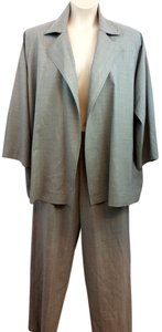 SHAMASK SHAMASK LIGHT GRAY ELASTIC WAIST WOOL BLEND PANT SUIT 3 OR SIZE 16 18 20