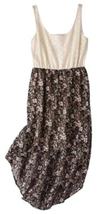 Xhilaration short dress Multicolour Floral Flowy Lace Hi Lo on Tradesy