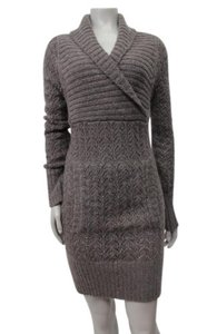 Lily McNeal short dress Mocha Fisherman Sweater Not Lined on Tradesy