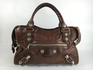 Balenciaga City Satchel in Brown