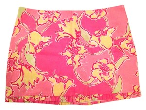 Lilly Pulitzer Day Lilly Floral Preppy Summer Mini Skirt Pink
