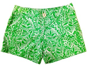 Lilly Pulitzer Bean Callahan Giraffe Preppy Shorts Green
