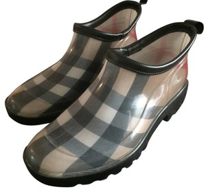 Burberry Rain Ankle Plaid Burberry Plaid Boots