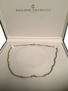 Charriol Great price for Philippe Charriol stainless steel 18k cable necklace.