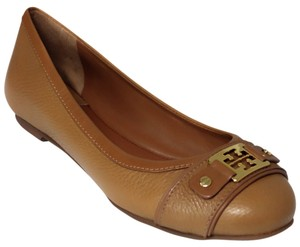 Tory Burch Clines Clines Leather Royal Tan Flats