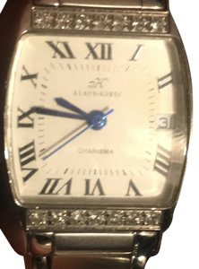 Klaus Kobec Klaus Kobec Charisma Diamond Bezel Stainless Steel Swiss Quartz Watch