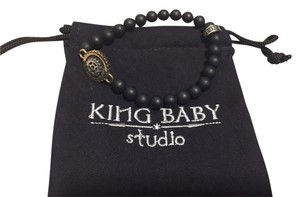 King Baby king baby studio onyx bead bracelet with saw gears