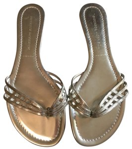 Sigerson Morrison White Gold Sandals