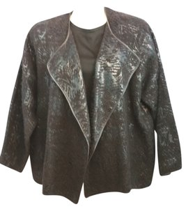 SHAMASK Brown Jacket Plus-size 3 Blazer