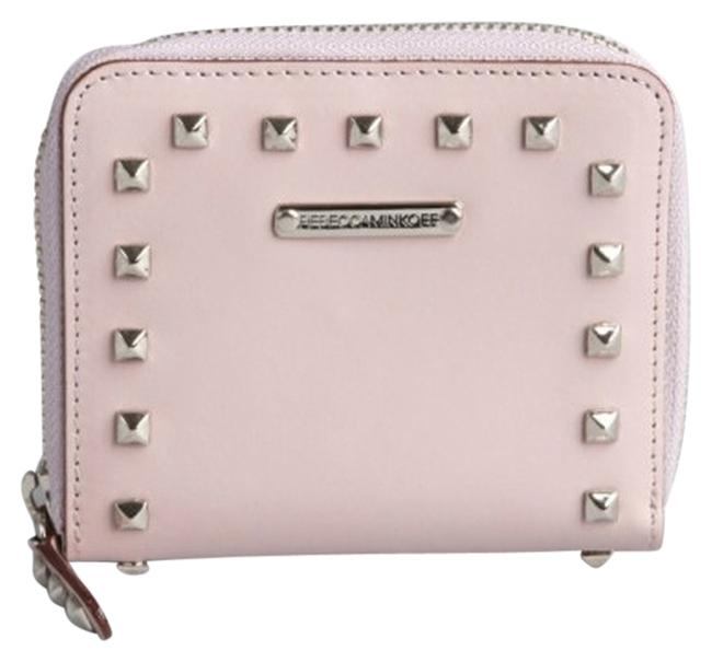 Item - Lavender Leather Pyramid Studded Small Zip Around In Purple Wallet