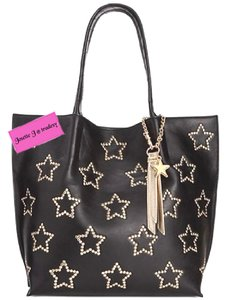 Betsey Johnson Gold Stars Tote in black
