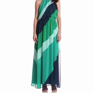 Turquoise/Navy/Mint Maxi Dress by Vince Camuto