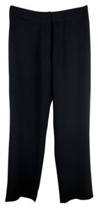 Eileen Fisher Nwt Black 100% Silk Washable Straight Pants Gray