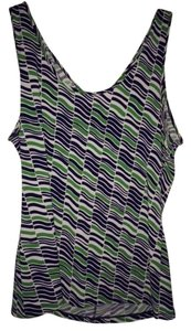Banana Republic Keyhole Cami Top Navy and Green