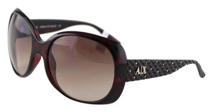 A|X Armani Exchange Armani Exchange Brown Havana Oval Sunglasses AX 209/S