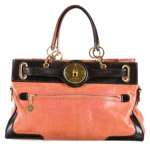 Balenciaga Satchel in Two tone Black & Russet
