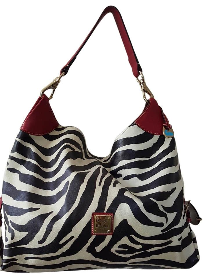 643c539dfe55 Dooney   Bourke Extra Large Jumbo Purse Black Ivory Zebra Print with ...
