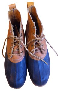 Eddie Bauer Snow Rain All-weather Size 7 7 Blue and Tan Boots