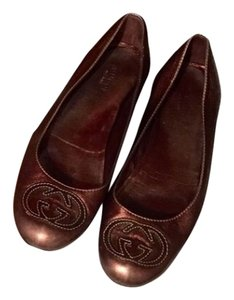 Gucci Metallic brown Flats
