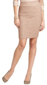 Ann Taylor Tweed Pencil Skirt Tan