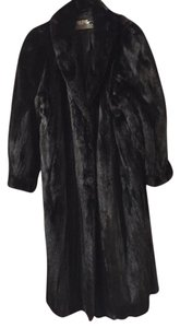 The Evans Collection Monogram Fur Coat