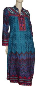 blue maroon Maxi Dress by Biba