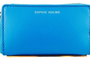 Sophie Hulme Sophie Hulme Turquoise Leather And Gold Credit Card Holder New