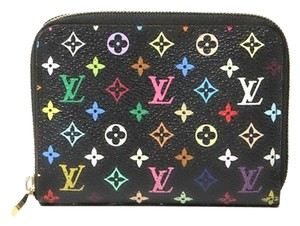 Louis Vuitton Authentic Louis Vuitton Multicolore Monogram Noir Zippy Coin Purse w/ Violette Interior