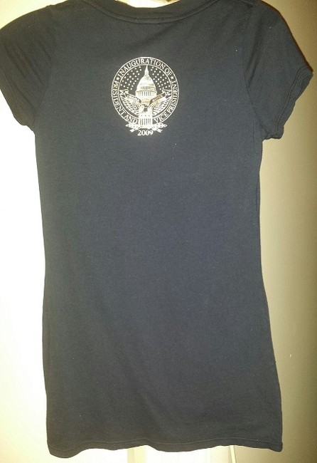 Juicy Couture Blue Never Worn 2009 Inauguation Collectors Item Red Velvet/silver T Shirt Navy