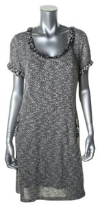 Donna Ricco short dress Black ivory metallic on Tradesy