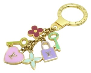 Louis Vuitton Authentic Louis Vuitton Multicolor Pastel Charms Bag Charm/Key Holder