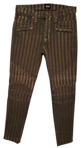 Hudson Jeans Moto-style Skinny Jeans-Coated