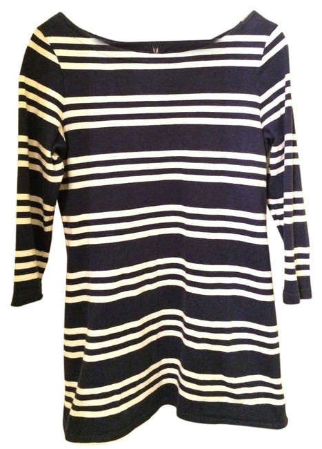 Item - Navy/White Stripe Nautical Maternity Top Size 8 (M, 29)