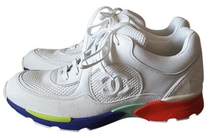 Chanel Leather Sneakers Tennis White Athletic