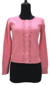 Plenty by Tracy Reese Peach Sweater Lace Cardigan