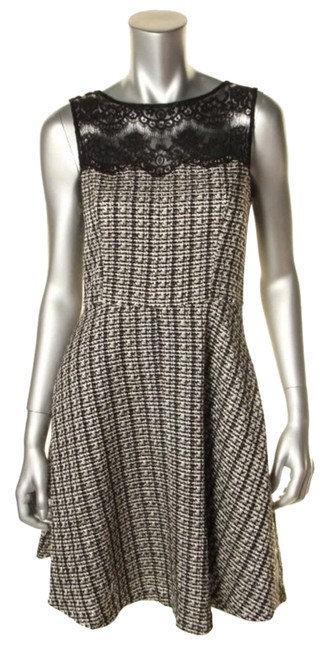 Jessica Simpson short dress black and white on Tradesy