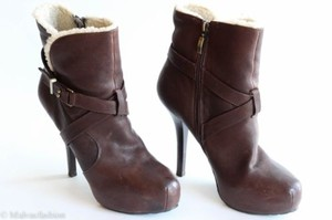 Guess Namya Leather Platform Brown Boots