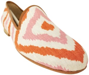 Ramon Tenza Loafer Loafer White, Pink, and Orange Flats