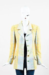Emanuel Ungaro Yellow Blue Multi-Color Jacket