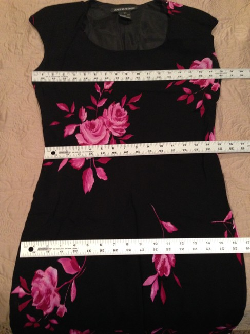 Black, Pink Maxi Dress by Jones Wear Maxi Size 12