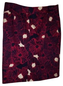 Charter Club Graphic Skirt Red and Blue with White