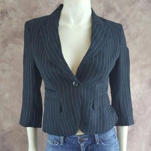 Ralph Lauren Polo Jeans By Ralph Lauren Black White Linen Pin Striped Blazer Jacket