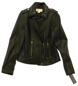 MICHAEL Michael Kors Studded Leather Mk Leather Medium Leather Motorcycle Jacket