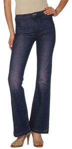 Acne Luv Beat Wide Flare Leg Jeans-Dark Rinse