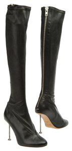 Maison Martin Margiela Nail Stilletto Stretch Leather Legging Roitfeld 38 Black Boots
